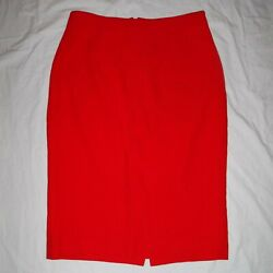 Alexander McQueen Red Pencil Skirt sz IT 46 US 10 Made in Italy $60.00