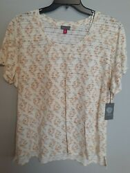 Vince Camuto Women's Plus Summer Oasis Floral Shirt Size 3X MSRP $69.00 $9.50