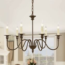 LNC Aley 6 Light Rustic Bronze Chandelier Candle Style A02995 $79.95