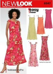 6347 Misses#x27; DRESSES EASY NEW LOOK Sewing pattern in 5 Long Styles Sizes 4 16 $12.52
