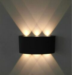 White Black Modern Wall Lamp Led Aluminum Up Down For Home Stairs Light $10.44