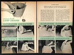 How To Make Lamp Shades Vintage 1950 PLANS Custom Wire Frame with Fabric cover $5.99