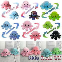 Octopus Plush Reversible Flip Stuffed Toy Soft Animal Home Accessories Baby Gift $10.99