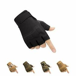 HYCOPROT Fingerless Tactical Gloves Knuckle Protective Breathable Lightweight... $30.25