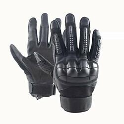 CRUSEA Leather Gloves Tactical Military Police Army Combat Shooting Cut Resis... $37.04