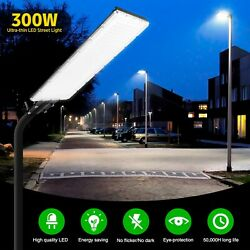 300W Commercial LED Street Light Outdoor Security Lighting Garden Yard Road Lamp