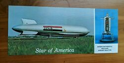 Vintage Star of America Intercontinental Nuclear Powered Blimp Airship Postcard $12.95