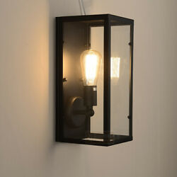 Industrial Wall Sconce Vintage Sconce Lighting Wall Mount Lamp with Glass Shade $44.99