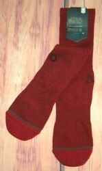 MENS STANCE STAR WARS SOLID VADER RED BURGUNDY CREW SOCKS SIZE M 6 8.5 $14.90