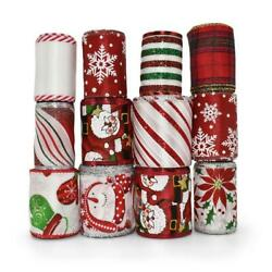 47 Yards Large Lot Christmas Coordinating Wired Ribbon $32.00