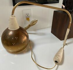 Vintage 50s 60s Wall Hanging Adjustable Lamp Light Mid Century Modern Lighting $175.00
