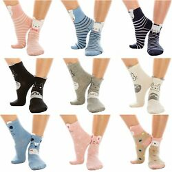 Fashionazzle Womens Girls Novelty Socks Animal Funny Cute Casual Soft Cotton Cre $18.50