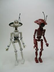 1999 HASBRO 12quot; STAR WARS MODERN 1 6 SCALE LOOSE ACTION PIT DROID LOT OF 2 $19.95