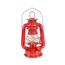 STANSPORT HURRICANE LANTERN RED 8 IN METAL GLASS GLOBE OUTDOOR CAMPING NEW $13.99