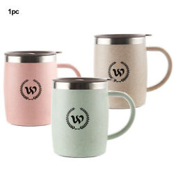 Insulated Double Wall Non Spill Travel Mug With Lid Easy Grip Coffee Tea Cup Hot $19.21