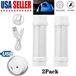 2x USB Portable Outdoor LED Rechargeable Camping Lantern Bright Tent Lamp 5Modes $11.14