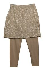Legacy Leggings Sz XXS Capri Length Skirted Abstract Print Beige A253126 $17.99