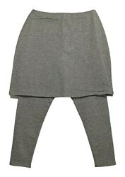 Legacy Leggings Sz 2XS Capri Length Skirted Heather Gray A253126 $17.99