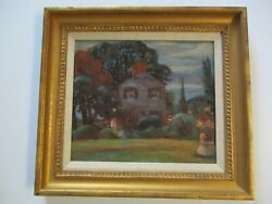 VINTAGE IMPRESSIONISM EXPRESSIONISM PAINTING OIL ANTIQUE NEW JERSEY EXHIBITED $630.00