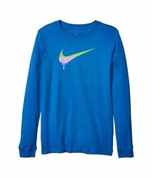 NEW Nike Big Boys Novelty Swoosh Graphic Long Sleeve T Shirt Size Medium 10 12 $13.99