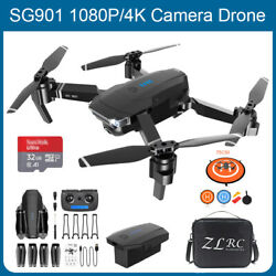 SG901 4K 1080P Drone WiFi GPS FPV HD Cam Foldable FPV Quadcopter Camera Drones $63.99