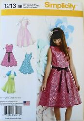 Simplicity 1213 Girls Plus Dresses Knit Shrug Sewing Pattern Sz 8 1 2 16 1 2 $3.99