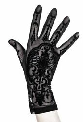 Restyle Dark Magick Wicca Gothic Black Mesh Gloves