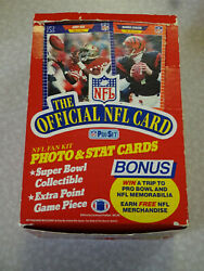 CLEAN UNSEARCHED 1989 NFL Pro Set Fan Kit Series 1 Football Card Box $39.99