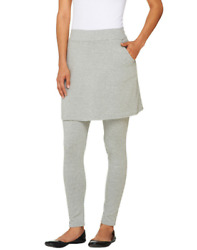 Legacy French Terry Ankle Length Skirted Leggings Gray 1X $39.99