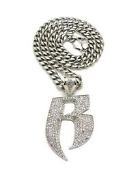 Hip Hop Ruff Ryder Pendant 24quot;30quot; Stainless Steel Cuban Chain Necklace RC4283 $23.70
