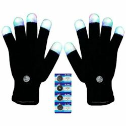 Bojetal LED Gloves Finger Light Up Glow Rave Flashing Christmas Xmas Gift Party $14.94