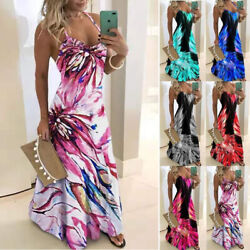 Womens Sleeveless Dress Loose Floral Slip Suspender Dress Casual Summer Dress $15.52