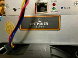 Antminer L3 Miner Litecoin ASIC Scrypt 580MH s with Bitman APW3 PSU $429.95