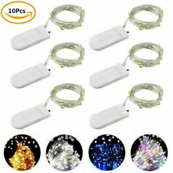 10 Pack 10 20 LED Battery Micro Rice Wire Copper Fairy String Lights Party Decor $8.99