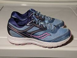 Saucony Cohesion 12 Womens Size 8 Athletic Running amp; Jogging Shoes Purple Blue $27.29
