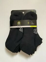 Youth Size Large 3 9 Champion Low Cut Socks Black Performance Duo Dry 6 pair $8.99