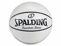 SPALDING ALL WHITE AUTOGRAPH FULL SIZE SIGNATURE SERIES BASKETBALL $39.95