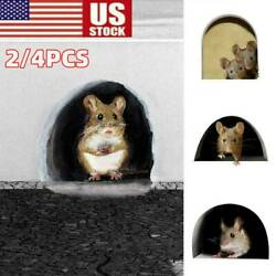 Funny Mouse Hole Decal Art Sticker for Home Door Stair Windows Wall Car Decor US $6.72