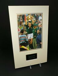 Francois PIENAAR Signed Mounted South African Rugby Legend 12x8 Photo AFTAL COA GBP 279.99