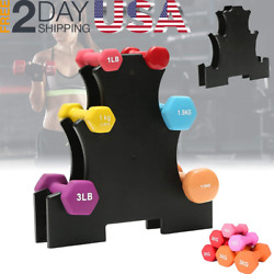 Portable Dumbbell Stand Racks Floor Weight Support Bracket Holder Accessories $29.99