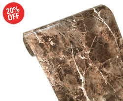 Brown Marble Granite Contact Paper Countertop Vinyl Self Adhesive Film Counter $15.89