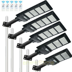 990000LM Commercial Solar Street Light IP67 Outdoor Dusk to Dawn LampRemotPole