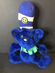 Blue Bear With Hat Plush Rhode Island Novelty 13quot; Tall Vintage? $8.46