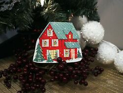 Retro Christmas Cottage Wood Cutout Vintage Decor $12.00