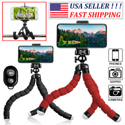 Flexible Octopus Tripod Phone Selfie Holder Stand Bluetooth Remote for iPhone $5.49