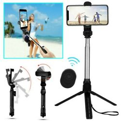 Extendable Phone Selfie Stick Tripod Monopod Stand Bluetooth for iPhone Samsung $8.29