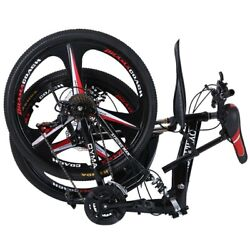 Folding Mountain Bike 27.5 inches wheels full suspension 21 Speed mens Bicycle $199.97