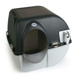 Cat Litter Box Self Cleaning Automatic Omega Paw Elite Pet Cleaning Black $54.59