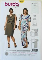Burda 6448 Womens Plus Dresses Vestido Kleid Sewing Pattern Sz 20 30 $3.99