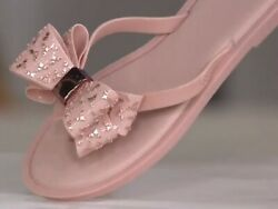 Melissa Embellished Bow Thong Sandals Sweet Ad A379713 $26.00
